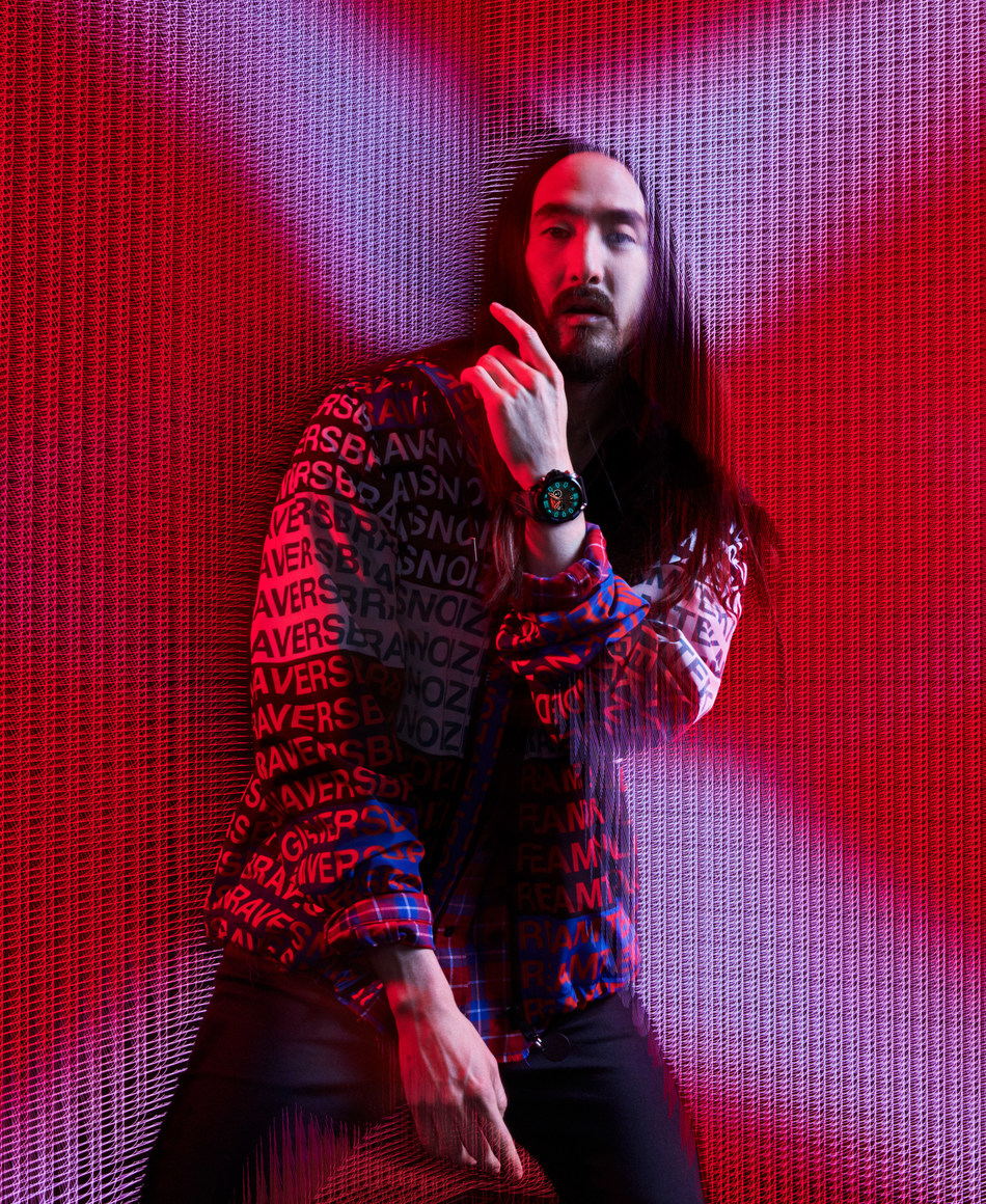 Steve Aoki - global superstar DJ, producer and Diesel's newest ambassador - will be the face of Diesel's Full Guard 2.5 touchscreen smartwatch.