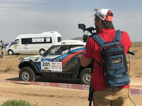 LiveU in action at the Silk Way Rally, Russia