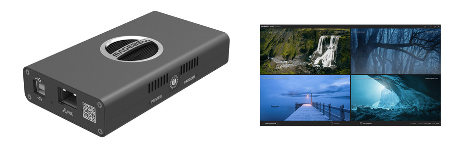 Magewell's new Pro Convert HDMI 4K Plus encoder hardware and Magewell Bridge software easily and reliably bring professional video signals into live, IP-based production infrastructures using NDI technology.