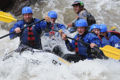 Warriors brave the white waters of Royal Gorge during Wounded Warrior Project outing.