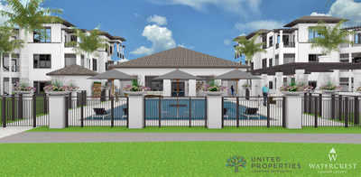 Watercrest Senior Living Group and United Properties announce the groundbreaking of Watercrest Sarasota Senior Living Community in Sarasota, Florida.
