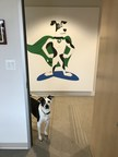 The real life Turfmutt in front of his cartoon super-hero portrait. Learn more about TurfMutt at www.TurfMutt.com.