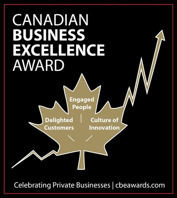 Canadian Business Excellence Awards for Private Businesses infographic featuring the 3 areas of excellence: engaged people, delighted customers, and a culture of innovation (CNW Group/Excellence Canada)