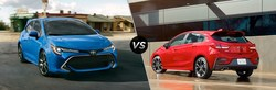 A side-by-side comparison of the 2019 Toyota Corolla Hatchback against the Chevy Cruze Hatch and the 2019 RAV4 versus the Mitsubishi Outlander Sport demonstrate the brand's excellence in each class of the automotive industry.w