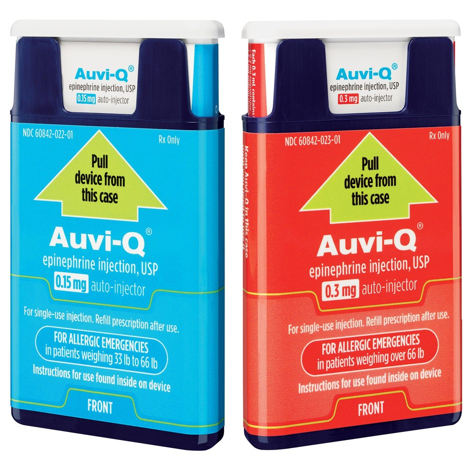 AUVI-Q® (epinephrine injection, USP) Available in Canada Starting September 7