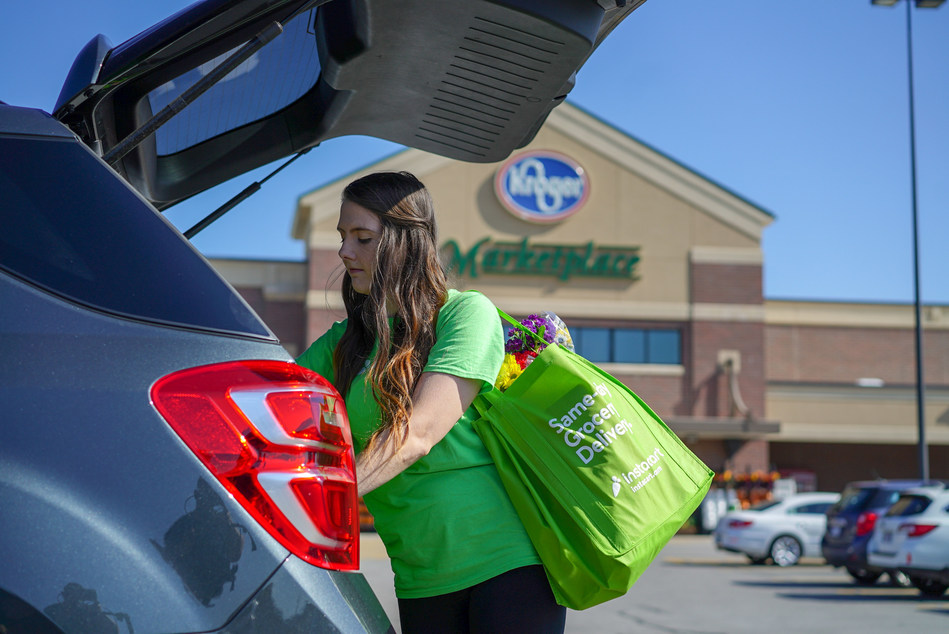 Kroger and Instacart expand partnership to new cities across the United States.