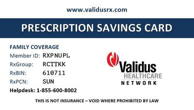 Validus Healthcare Network announced today that it has launched ValidusRX.com - a powerful tool which combines a prescription savings card with an online drug price comparison system powered by RxCut®.