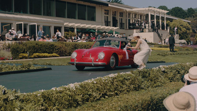 1952 Porsche America Roadster Type 540 winning 3rd in class on the podium in - Restored by Road Scholars at Pebble Beach. Photo by: Dan Olivares