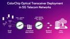 ColorChip Optical Transceiver Deployment in 5G Telecom Networks (PRNewsfoto/ColorChip Ltd.)