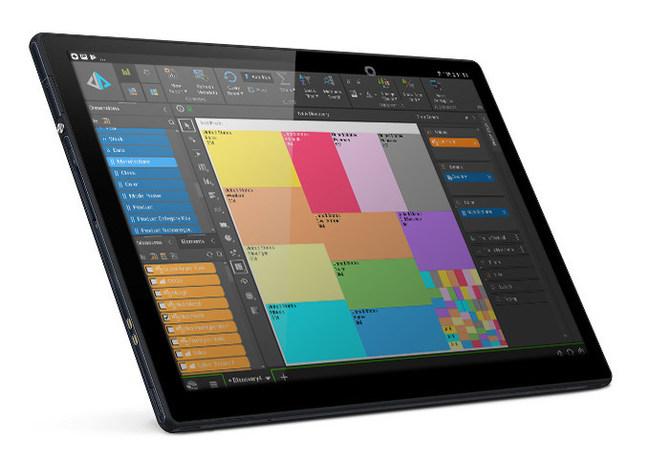 Pyramid 2018 Tablet App: Tablet highlighting a sample treemap visualization. (PRNewsfoto/Pyramid Analytics)