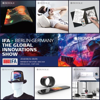 Royole will be showcasing its full line of both B2B and B2C products and solutions as well as special flexible-display demonstrations at the upcoming IFA 2018 Consumer Electronics Show.