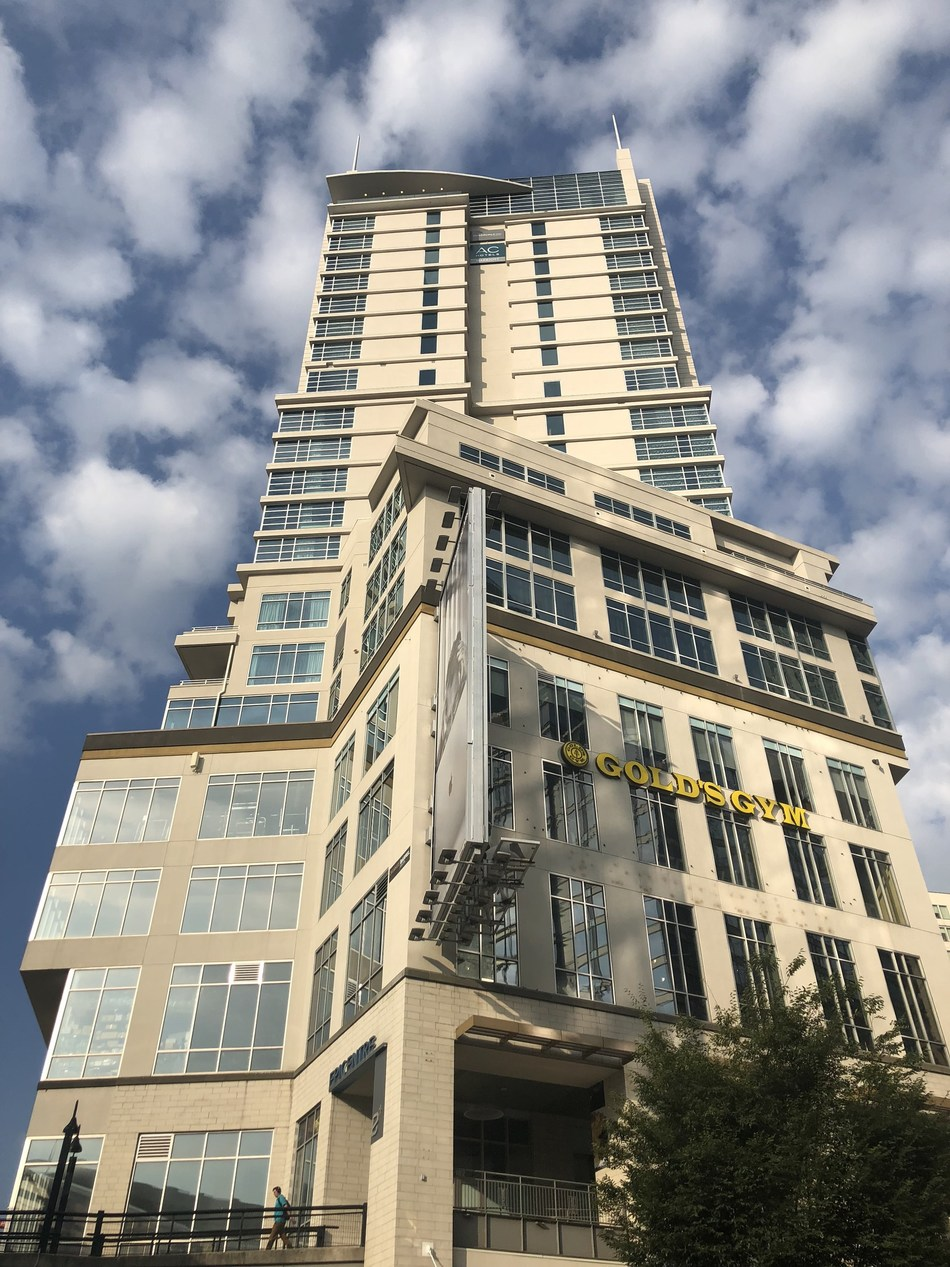 The Charlotte City Center Tower opened this week with the dual-branded AC Hotel and Residence Inn. (PRNewsfoto/McKibbon Hospitality)