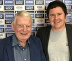 (Left to right) Legendary football commentator, John Motson and Mike Bohan, Chief Marketing Officer at Football Index. (PRNewsfoto/Football INDEX)