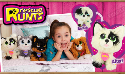 Rescue Runts, adoptable plush pets that you rescue, groom and love, were named to Amazon's Top 100 Holiday Toys List this week.