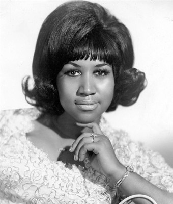 A young Aretha Franklin, pictured in 1968, a year after her smash hit