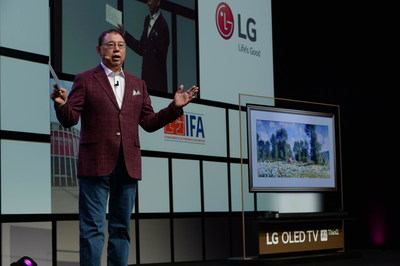 Outlining the strategic direction for the new era of artificial intelligence, LG Electronics (LG) Chief Executive Officer Jo Seong-jin (pictured above) and President & Chief Technology Officer Dr. I.P Park delivered the joint opening keynote address at IFA 2018.