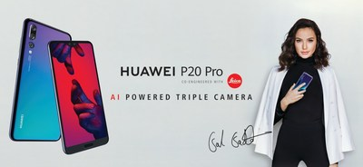 The Huawei P20 Pro in Twilight is coming to Canada on September 6 (CNW Group/Huawei Canada)