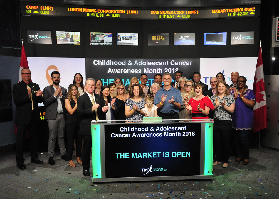 Childhood & Adolescent Cancer Awareness Month 2018 Opens the Market (CNW Group/TMX Group Limited)
