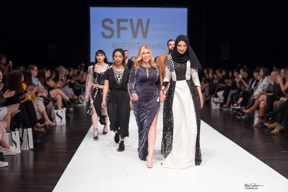 SFW Executive Producer Jodi Goodfellow and Team Photo Credit: msfoto.ca (CNW Group/Startup Fashion Week)