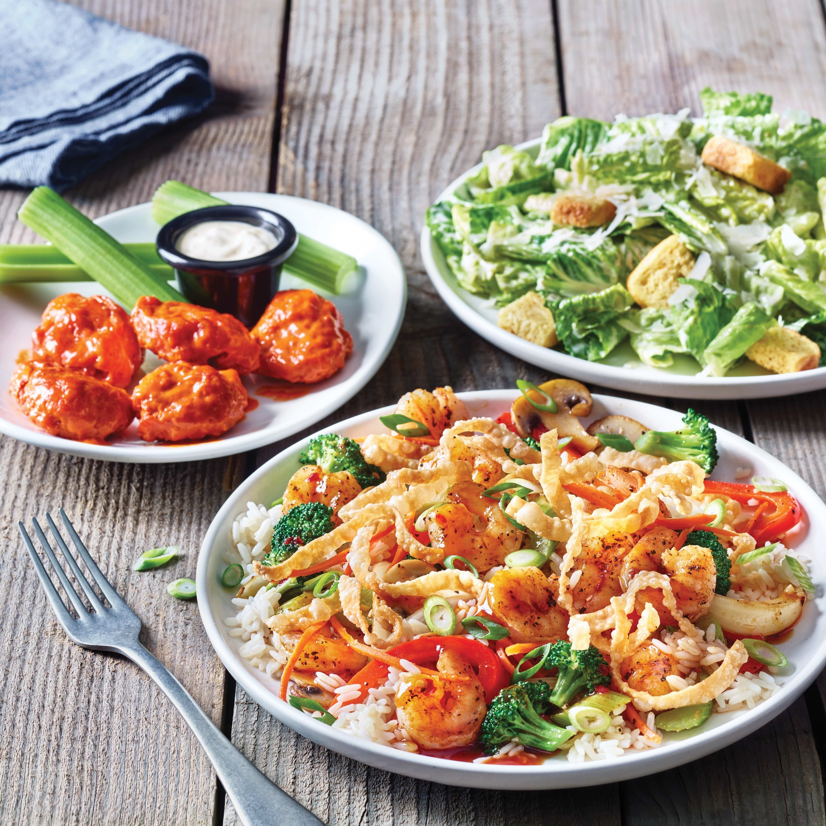Applebee's NEW 3-Course Meal includes an appetizer, side salad and entrée starting at $11.99 now for a limited time.