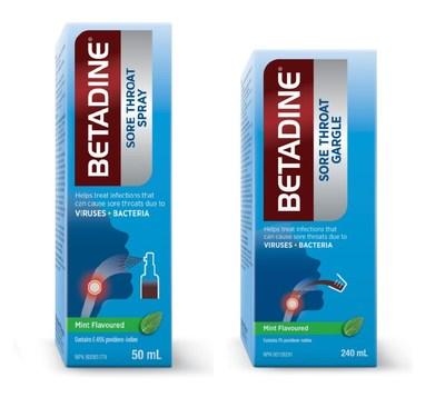 BETADINE® Sore Throat Spray and BETADINE® Sore Throat Gargle (CNW Group/Purdue Pharma)