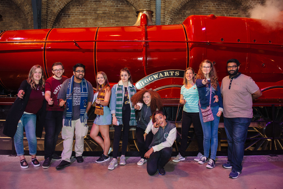 All aboard the Knight Bus experience: Wizarding World fans take a magical trip back to Hogwarts (PRNewsfoto/Wizarding World)