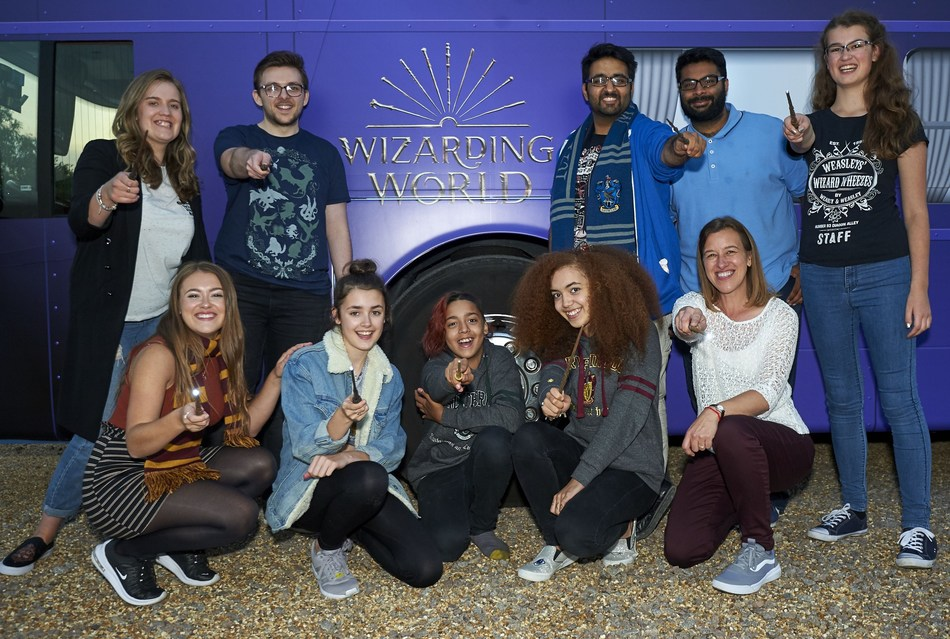 Wizarding World fans travel to London aboard a magical Knight Bus inspired vehicle (PRNewsfoto/Wizarding World)