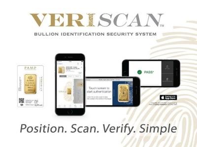 The Veriscan Technology takes a unique digital fingerprint of each gold bar.