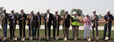 Groundbreaking Ceremony with all of the project participants present