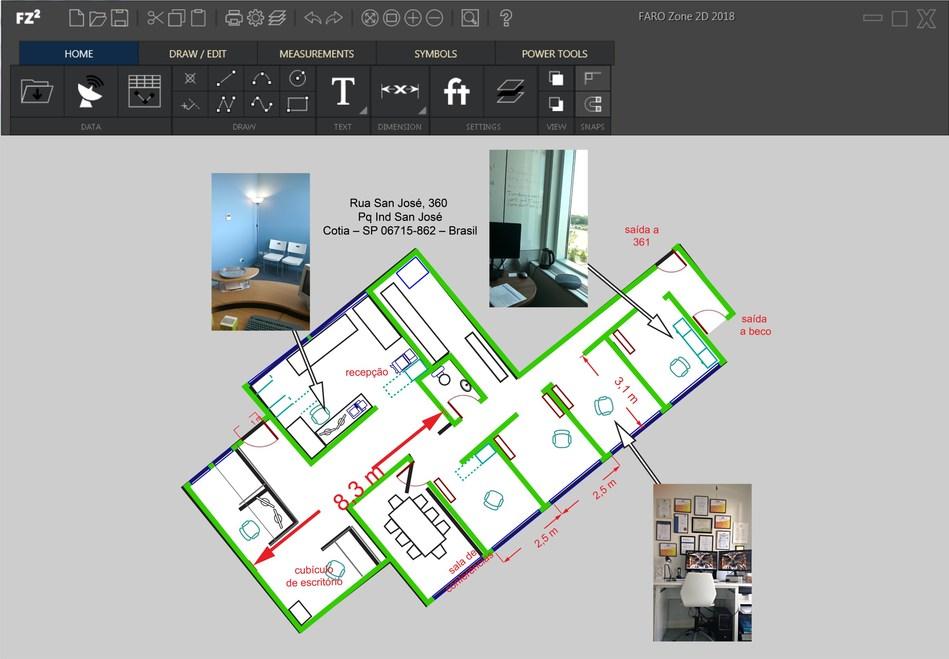 Process floor plans into 2D diagrams easily.