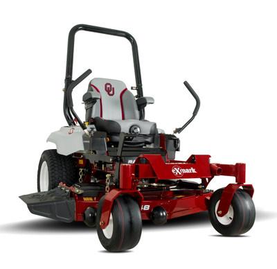 Oklahoma Sooners edition Exmark Radius E-Series zero-turn mower