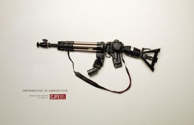 CJFE - Information is Ammunition (CNW Group/Canadian Journalists for Free Expression)