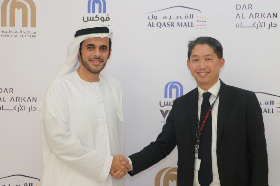 Kelvin Kwok Han Sim, Chief Executive Officer of Dar Al Arkan Development and Mohamed Al Hashemi, Country Manager for Saudi Arabia at Majid Al Futtaim Group (PRNewsfoto/Dar Al Arkan)