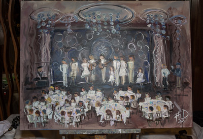 During the 2018 Watercrest White Party, talented live artist, Heidi Schwartz of 'Paint Your Event' captured a full-size painting of the evening's celebration.
