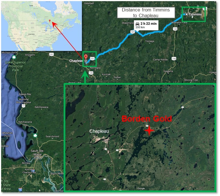 Figure 3: Geographic overview of Borden Site. (CNW Group/Goldcorp Inc.)