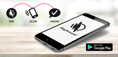The WayAround mobile app for Android is available for free on Google Play. The app works together with smart tags to provide information for people with blindness or vision loss.