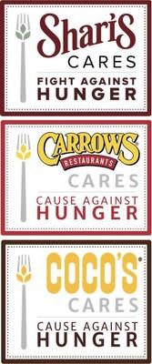 Shari's, Coco's, Carrows Hunger Action Logos