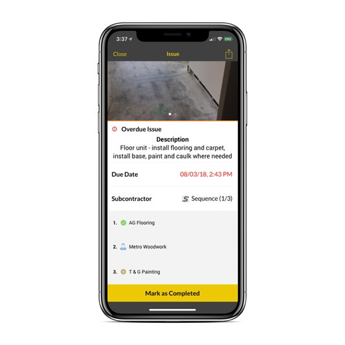 Buildup's new sequencing capability helps construction professionals speeds up tasks, reduce wait times, and eliminate micromanagement of the different subcontractors.
