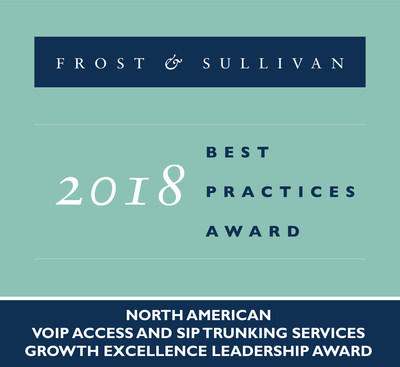 CenturyLink earns acclaim from Frost & Sullivan for voice solutions; company honored with 2018 Growth Excellence Leadership award for VoIP access and SIP trunking services.