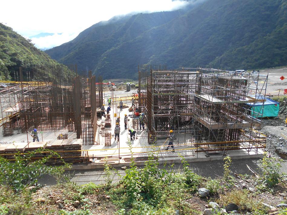 Photo 2: SAG and Ball Mill Pedestal Rebar Installation (CNW Group/Continental Gold Inc.)