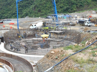 Photo 3: Leach Tank #3 Concrete Pour (CNW Group/Continental Gold Inc.)