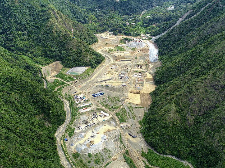 Photo 4: Aerial View of Mill and Infrastructure Site (CNW Group/Continental Gold Inc.)