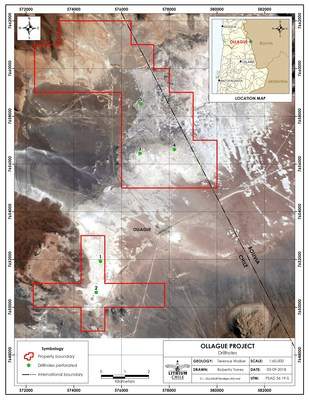 Ollague 5th Drilling Location (CNW Group/Lithium Chile Inc.)