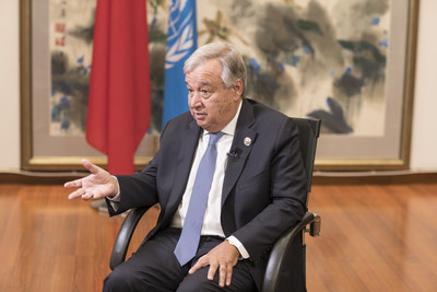 UN Secretary-General Antonio Guterres speaks with China.org.cn on Sept. 3. He was invited to attend the 2018 Beijing Summit of the Forum on China-Africa Cooperation (FOCAC).