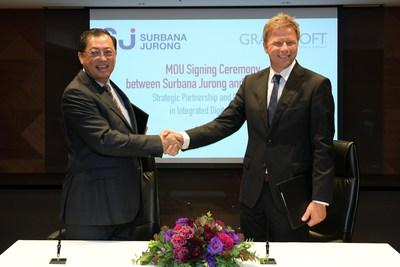 Wong Heang Fine, Group CEO, Surbana Jurong, and Viktor Varkonyi, CEO, GRAPHISOFT