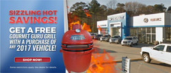 Customers in Collins, Miss. can receive a free Gourmet Guru Grill with the purchase of any 2017 vehicle at Sullivan Motors