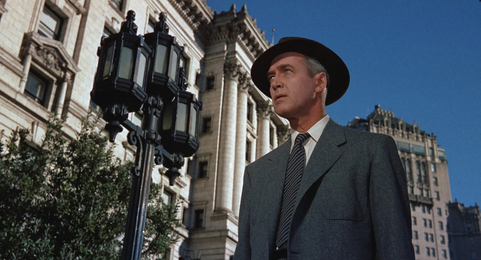 Fairmont hotels have set the stage for countless Hollywood blockbusters. For instance, the iconic Fairmont San Francisco had a starring role in Alfred Hitchcock's film classic Vertigo (1958). James Stewart in Vertigo (©1958 Universal City Studios, Inc. for Samuel Taylor and Patricia Hitchcock O'Connell as trustees und) (CNW Group/Fairmont Hotels & Resorts)