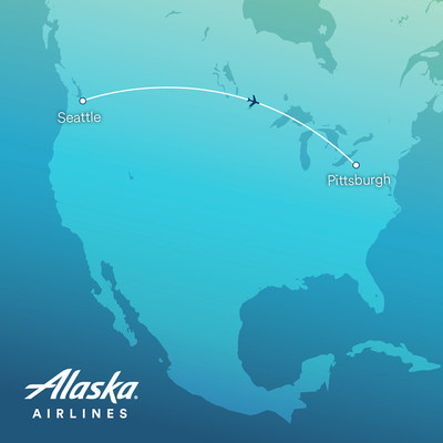 Alaska begins nonstop service to Pittsburgh from Seattle today