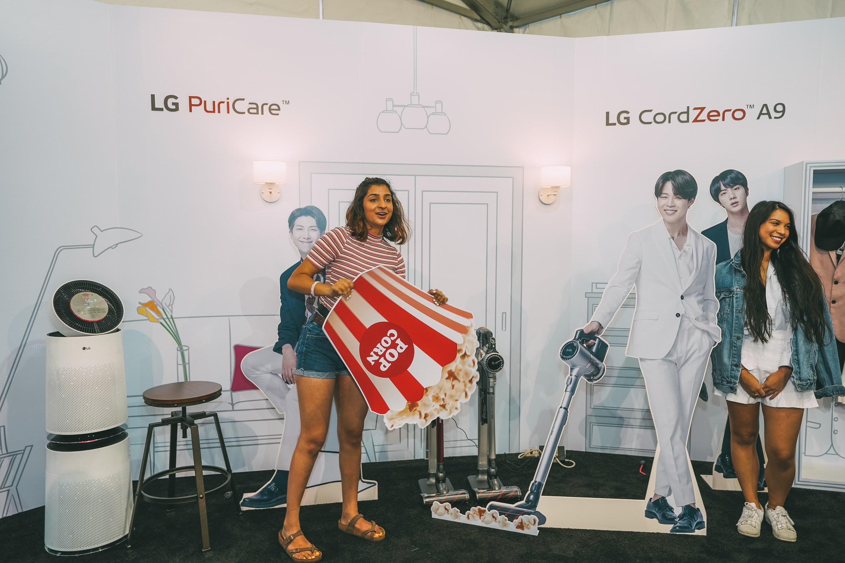 LG Captures Attention Of BTS Fans From Coast To Coast During BTS
