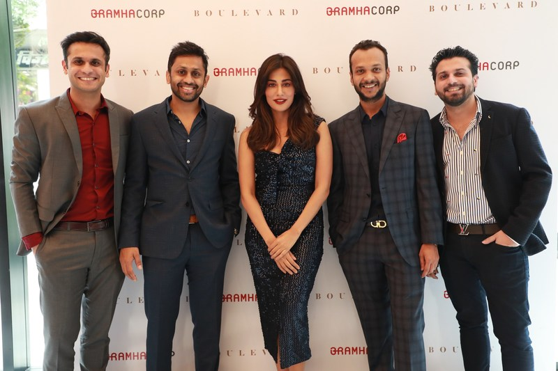 Chitrangada Singh and the BramhaCorp Group of Directors at the launch of BramhaCorp Boulevard (PRNewsfoto/BramhaCorp)